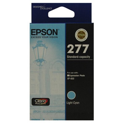Epson C13T277592 Std Capacity Claria Photo HD Light Cyan ink (Yields up to 360 pages)
