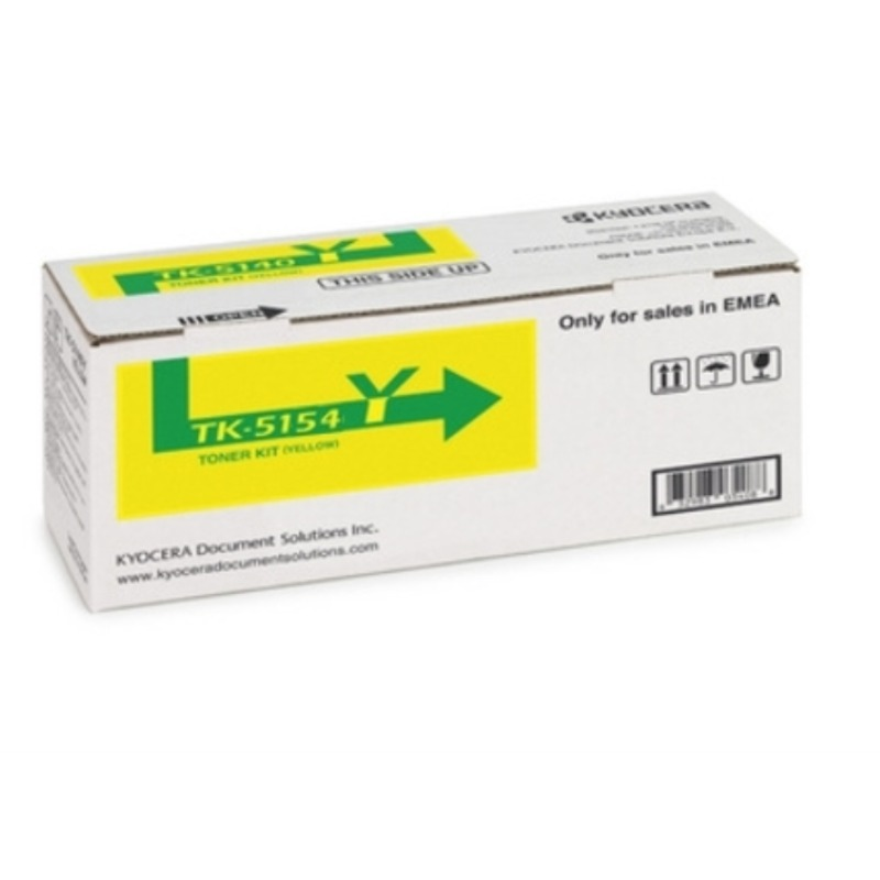 Kyocera TK-5154Y Yellow Toner Kit (10,000 Yield @ ISO)