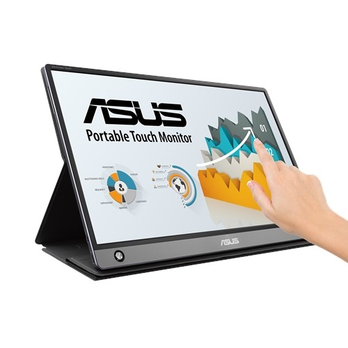 ASUS MB16AMT 15.6 Inch Touch FHD USB-C Portable IPS Monitor, Micro-HDMI, Built in Battery, 0.9kg