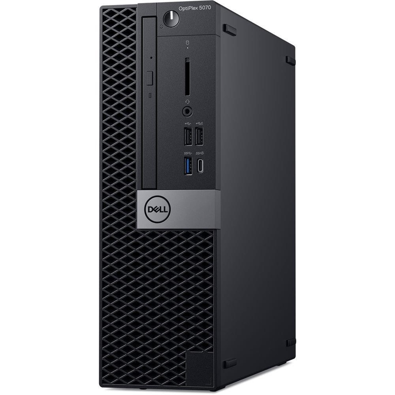 Dell Optiplex 5070 SFF, Core i5-9500 3.0/4.4Ghz, 8GB, 256GB SSD, DVDRW, Win 10 Pro 64, 3 Year