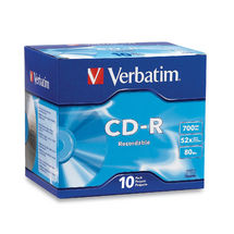 Verbatim CD-R 80 Min Jewel Case 10 Pack 52x