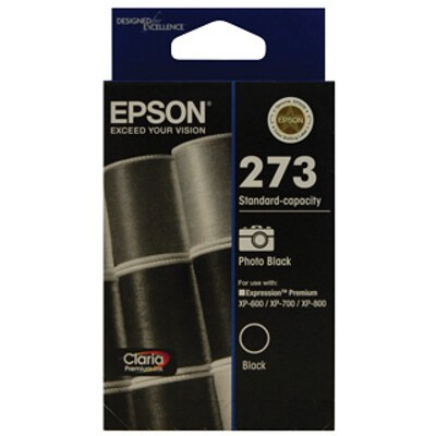 Epson C13T273192 Std Capacity Claria Premium Photo Black ink (Yields up to 250 pages)