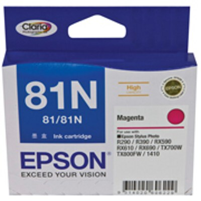 Epson C13T111392 High Capacity Magenta Cartridge (same as C13T081390)(Yields up to 855 pages)