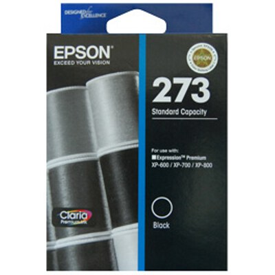 Epson C13T272192 Std Capacity Claria Premium Black ink (Yields up to 250 pages)