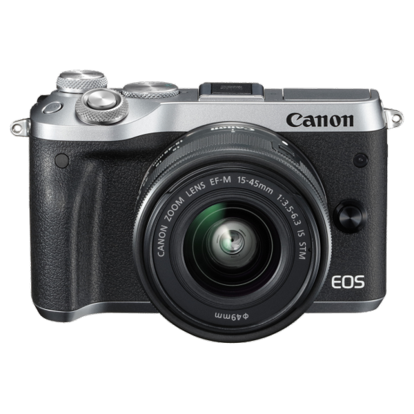 Canon M6KISS EOS M6 Single Kit w/EF-M15-45ST - Silver
