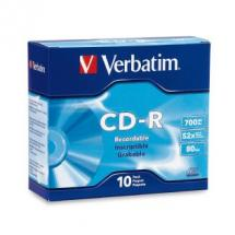 Verbatim CD-R 80 Min Slim Case 10 Pack 52x
