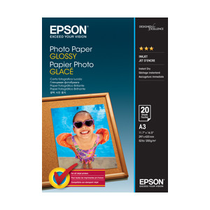 Epson C13S042536 Photo Paper Glossy, A3, 20 Sheets Per Pack