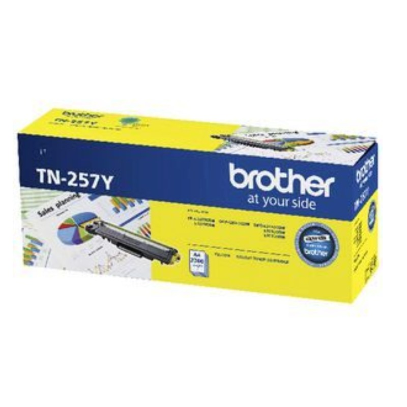Brother TN-257Y Yellow Toner Cartridge, 2 300 pages