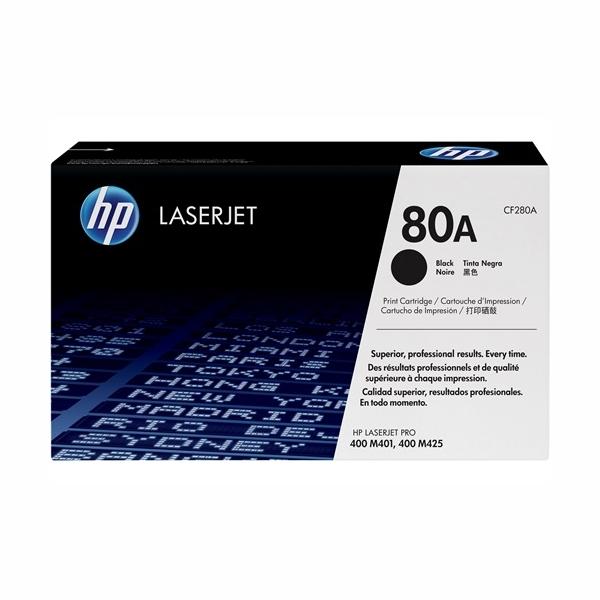 HP CF280A #80A Black Toner Cartridge (2,700 Pages)