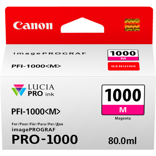 Canon PFI1000M Magenta Ink Tank (Yield, up to 1,600 pages)