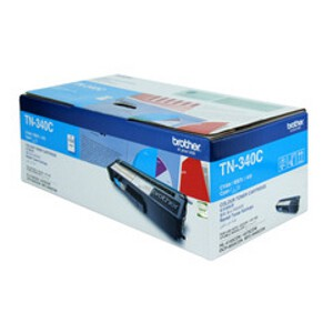Brother TN-340C Cyan Toner Cartridge (1,500 Yield @ 5%)