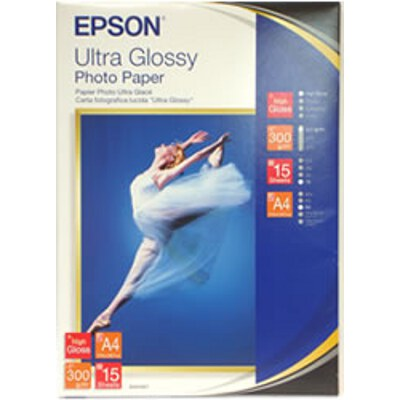 Epson C13S041927 Ultra Glossy Photo Paper - A4 15 Sheets