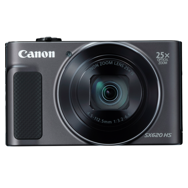Canon SX620HSBK 20.2MP Digital Camera with 25 x Optical Zoom - Black