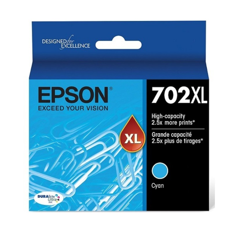 Epson C13T345292 High Yield 702XL Cyan Ink DURABrite