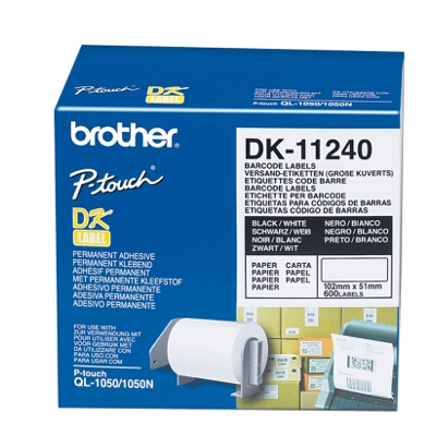 Brother Large multi-purpose Label 51mm x 102mm (600 Labels per Roll)