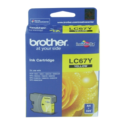 Brother LC-67Y Yellow Ink Cartridge for DCP-385C