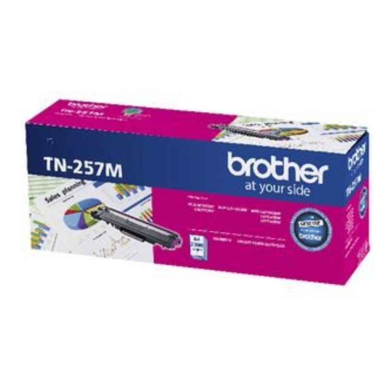 Brother TN-257M Magenta Toner Cartridge, 2 300 pages