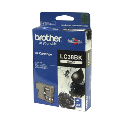 Brother LC-38BK Black Ink Cartridge for DCP-145C/165C