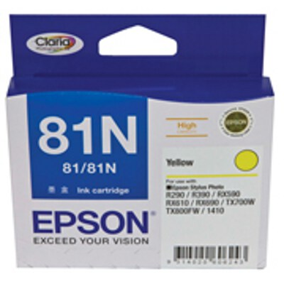 Epson C13T111492 High Capacity Yellow Cartridge (same as C13T081490)(Yields up to 855 pages)