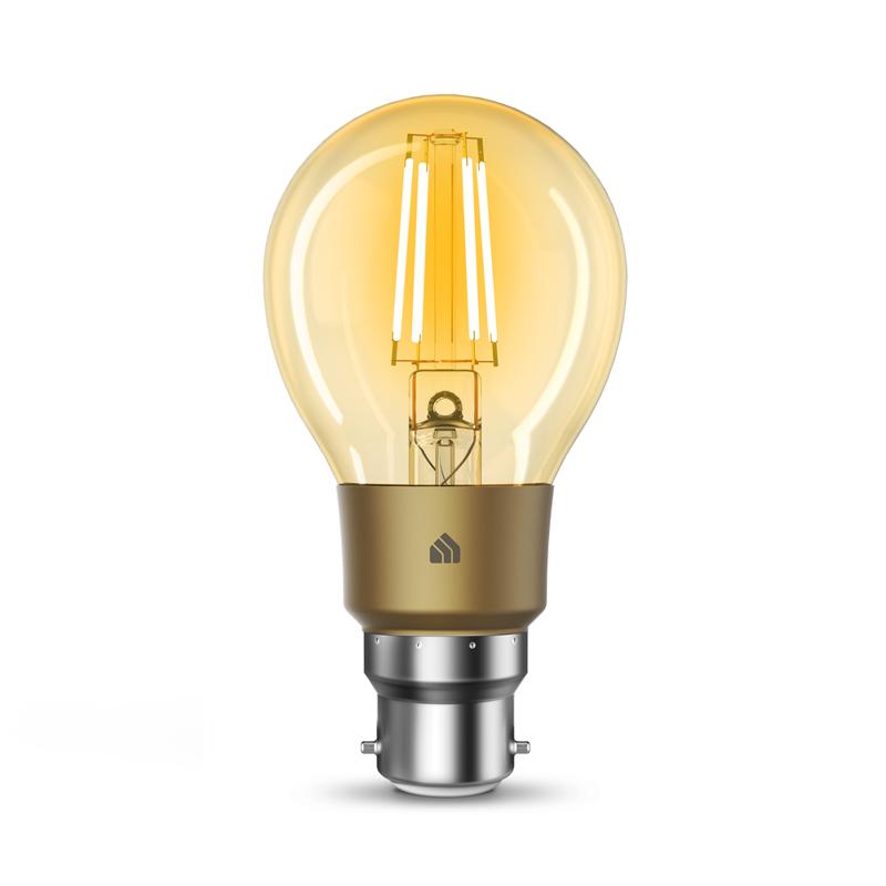 TP-Link KL60B Kasa Smart Wi-Fi Filament Bulb, Warm Amber - B22 Bayonet
