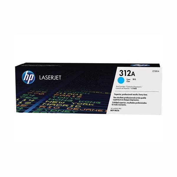 HP CF381A #312A Cyan Toner Cartridge (2,700 Yield)