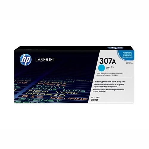 HP CE741A #307A Cyan Toner Cartridge (7,300 Yield)