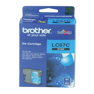 Brother LC-67C Cyan Ink Cartridge for DCP-385C
