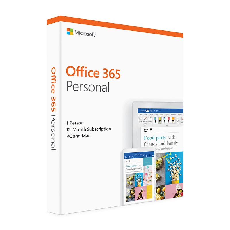 Microsoft QQ2-00874 Office 365 Personal - 1 User, 1 Year Subscription