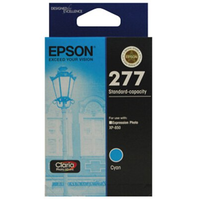 Epson C13T277292 Std Capacity Claria Photo HD Cyan ink (Yields up to 360 pages)