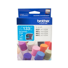 Brother LC-133C Cyan Ink Cartridge (Yield, up to 600 pages)