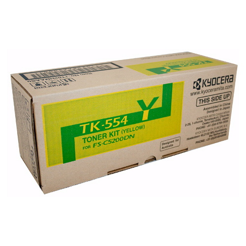 Kyocera TK-554Y Yellow Toner Cartridge for FS-C5200DN (6,000 Yield)