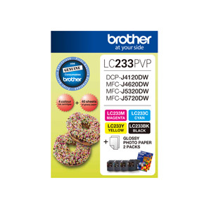 Brother LC-233PVP Colour Photo Value Pack (Yield, up to 550 pages)
