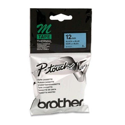 Brother M-K531 Non Laminated Black Printing on Blue Tape (12mm Width 8 Metres in Length)
