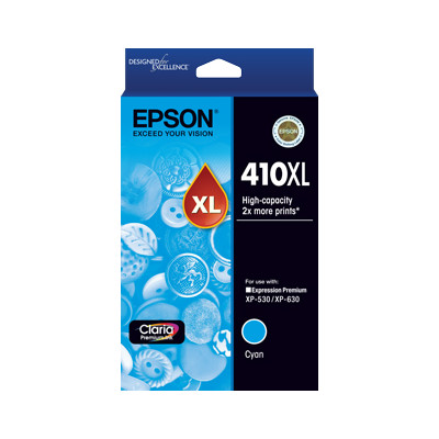 Epson C13T340292 High Capacity Cyan Ink Cartridge (Yields up to 650 pages)