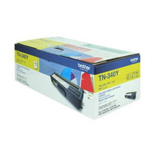 Brother TN-340Y Yellow Toner Cartridge (1,500 Yield @ 5%)