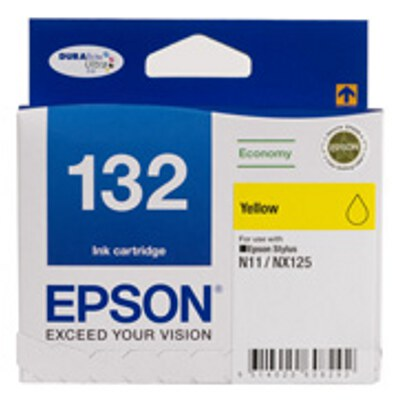 Epson C13T132492 Economy Yellow ink cartridge to suit STYLUS N11, NX125