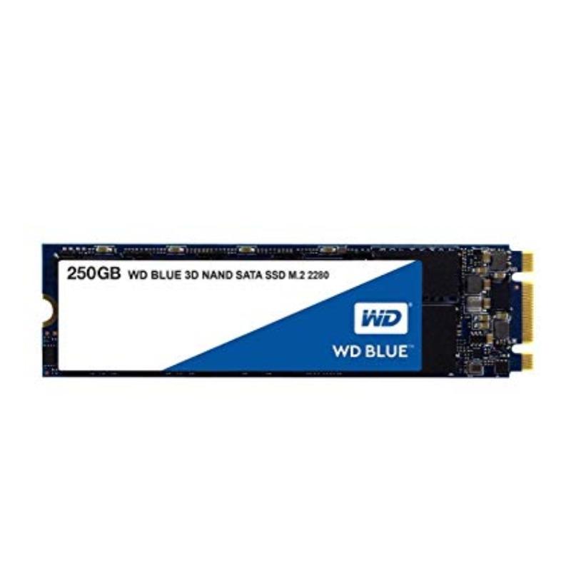 Western Digital WDS250G2B0B Blue 3D NAND, 250GB M.2 SSD,5 Yr