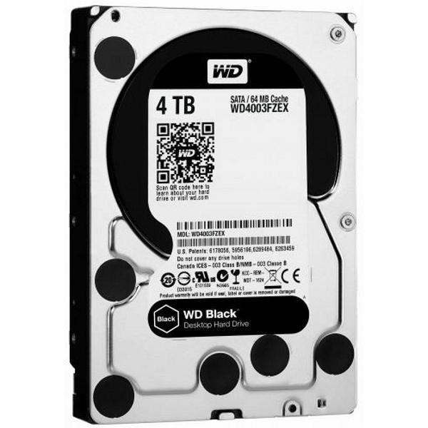 Western Digital WD4004FZWX Black 4000GB, 7200RPM 3.5 Inch Performance, 5 Year Warranty