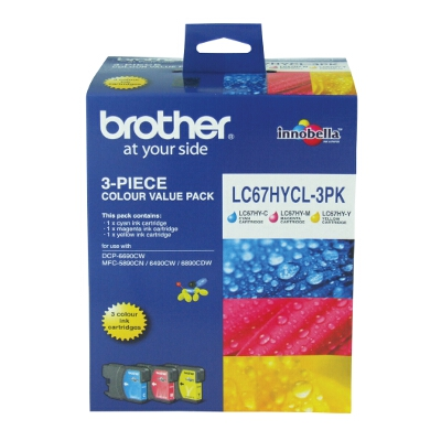 Brother High Yield Colour Value Pack (LC-67C, LC-67M, LC-67Y)