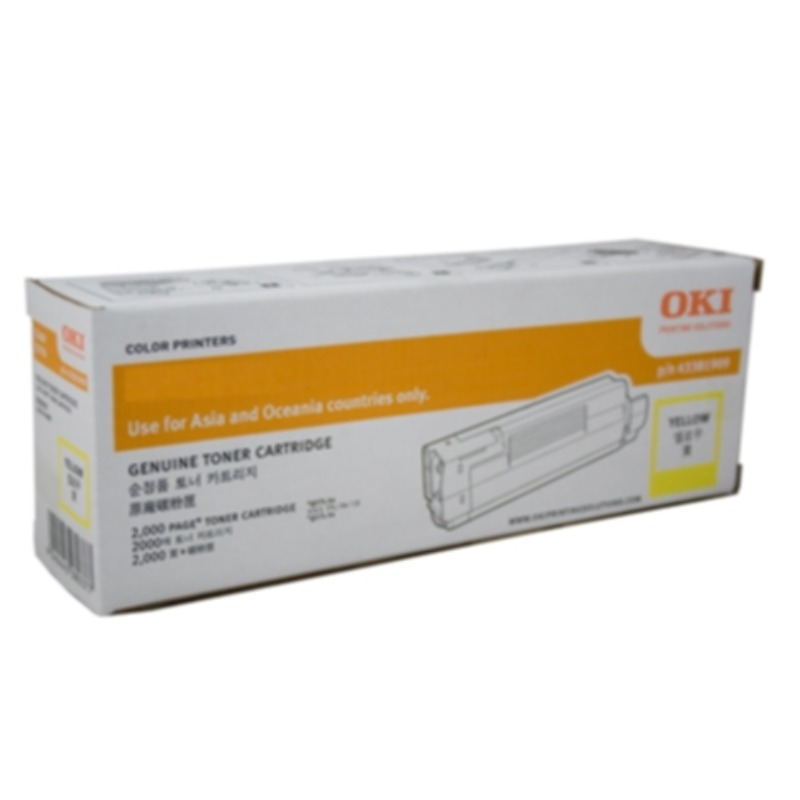 OKI 46490609 Yellow Toner Cartridge for C532dn/MC573dn (6000 yield @ ISO)