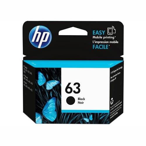 HP F6U62AA #63 Black Ink Cartridge (190 page yield)