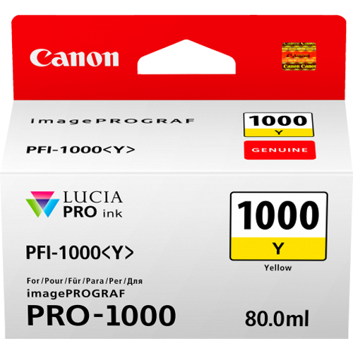 Canon PFI1000Y Yellow Ink Tank (Yield, up to 329 pages)