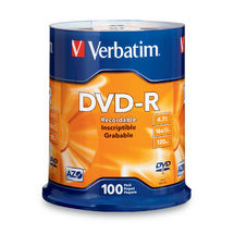 Verbatim DVD-R 4.7GB 16x 100 Pack Spindle