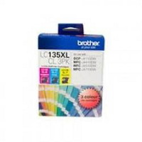 Brother LC-135XL High Yield Colour Value Pack (Yield, up to 1,200 pages ea)