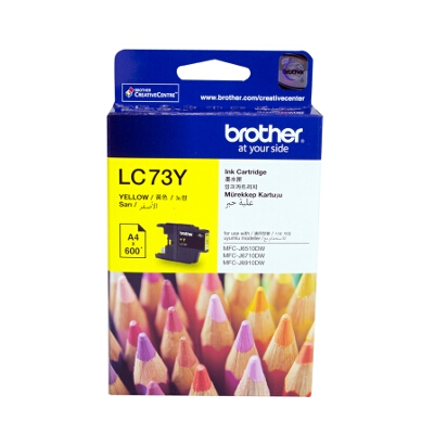 Brother LC-73Y Yellow Ink Cartridge
