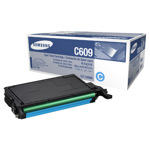 Samsung CLT-C609S Cyan Toner for CLP-770ND/CLP-775ND (Average 7,000 Pages @ ISO/IEC 19798)