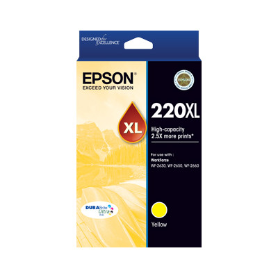 Epson C13T294492 220XL High Capacity DURABrite Ultra Yellow ink (Yields up to 450 pages)