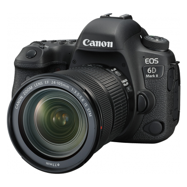 Canon 6DIIPK, EOS 6D Mark II premium kit w/EF24-105 IS STM lens
