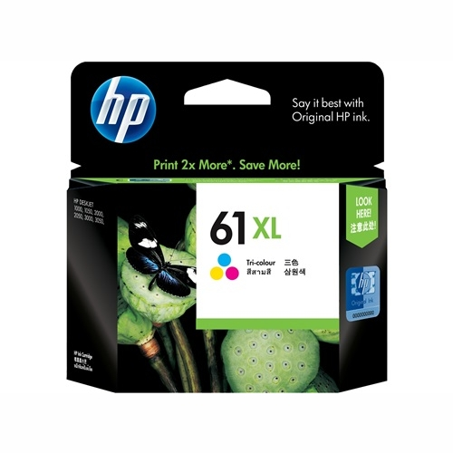 HP CH564WA #61XL High Yield Tri Colour Ink Cartridge (330 page yield)