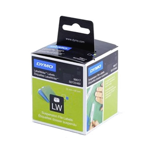 DYMO SUSPENSION FILE - PAPER/WHITE 12mm x 50mm  1 Roll/Box 220 Labels/Roll